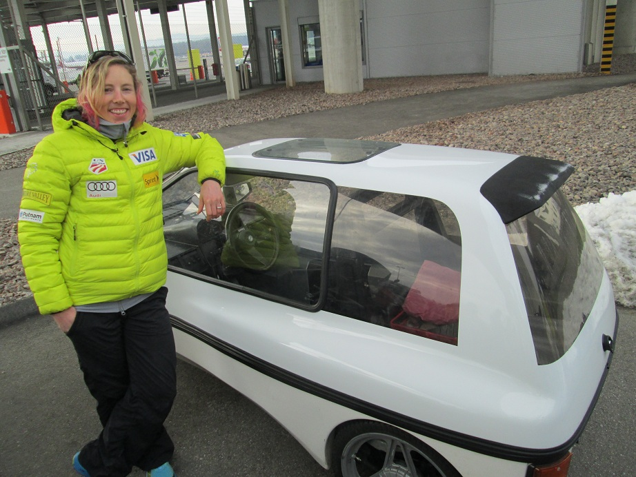 Kikkan Randall's Small Car