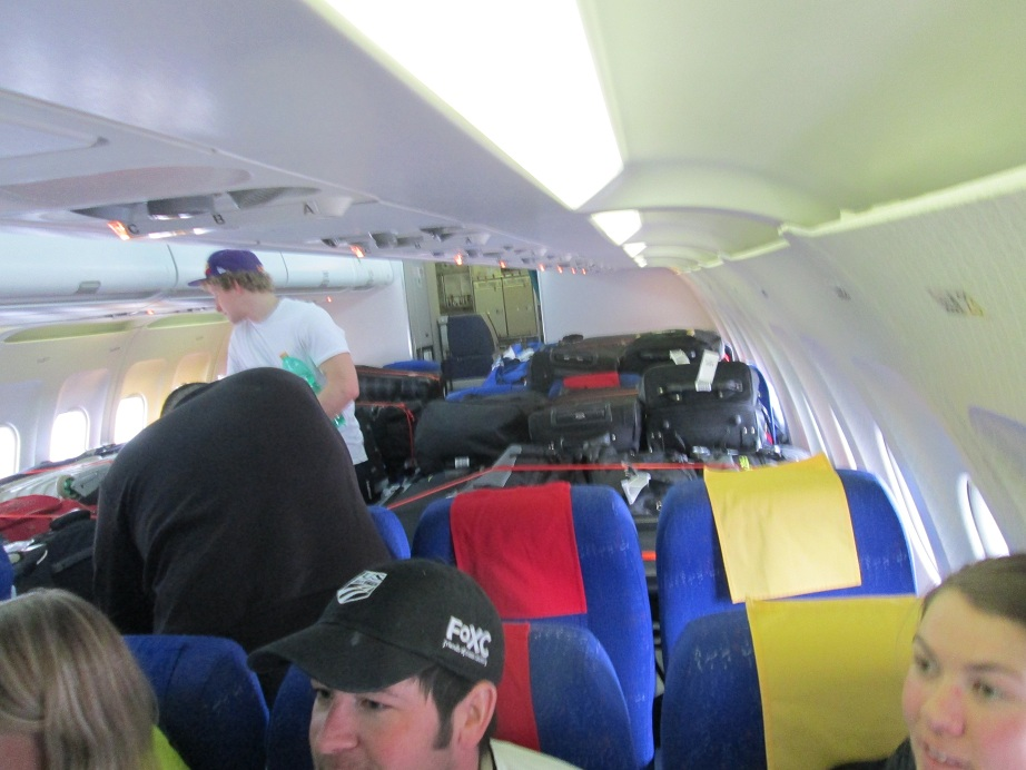 Luggage Inside Cabin