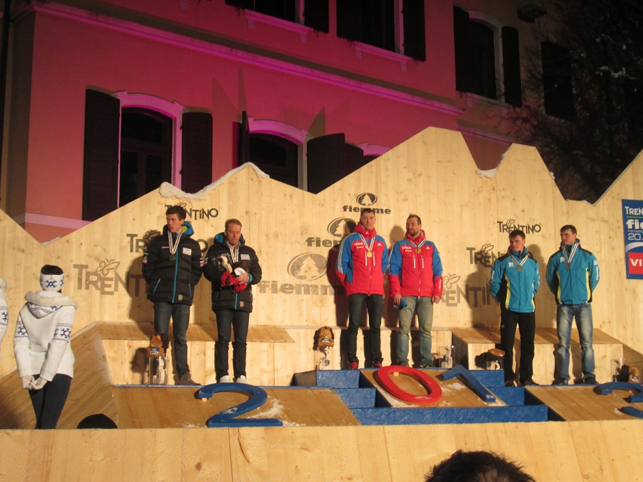Men's World Championship Team Sprint Podium