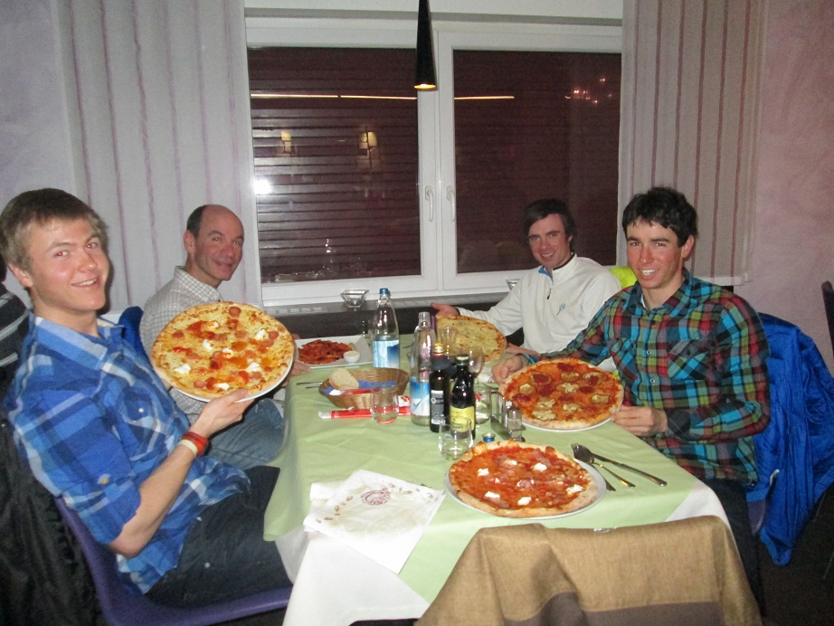 Dinner with Tad, Erik, and Parents