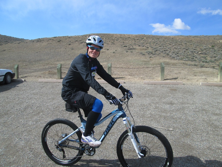Kristin Gausen Mountain Biking