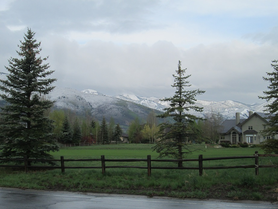 Snow on Mountains in Park City