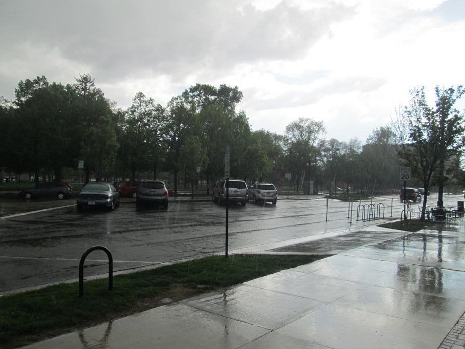 Rain in Salt Lake City