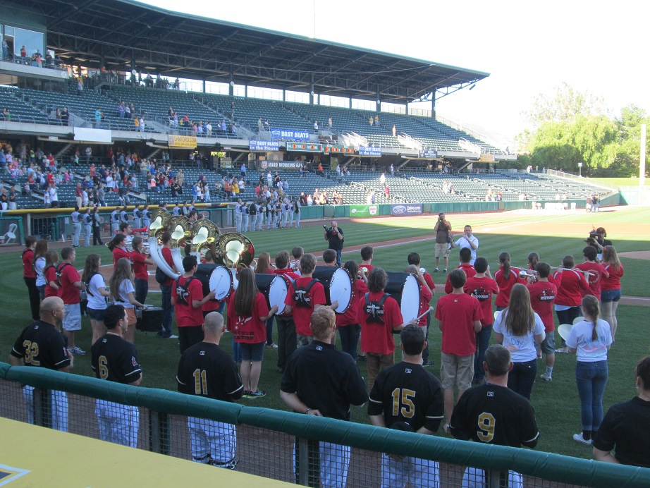 Park City High School Playing National Anthem at Salt Lake Bees
