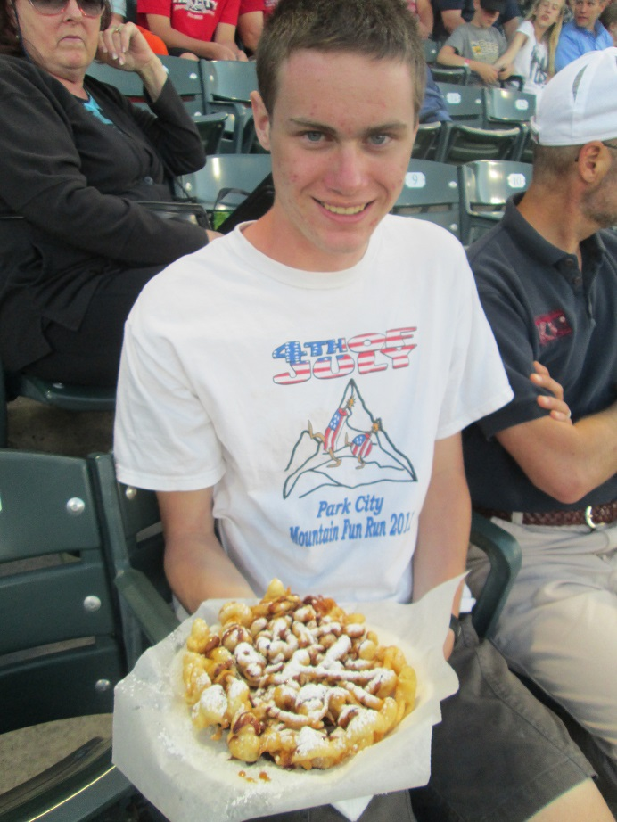 Luke Adams Funnel Cake at the Salt Lake Bees