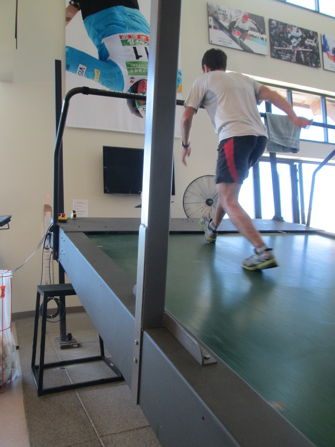 Noah Hoffman Hiking Intensity on the Roller Ski Treadmill