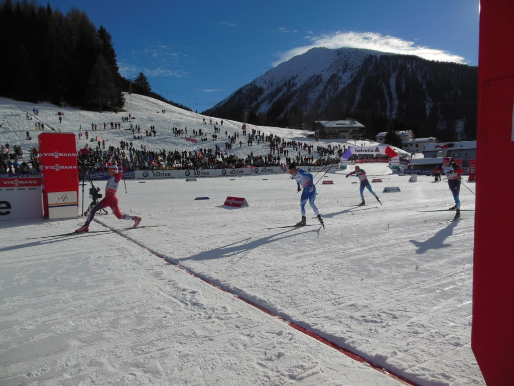 Men's Finish of Davos World Cup Sprint 2013