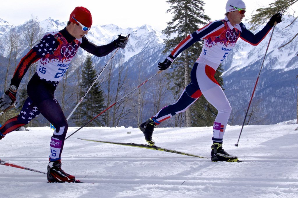 Noah Hoffman Skiing in Classic Portion of Olympic Skiathlon