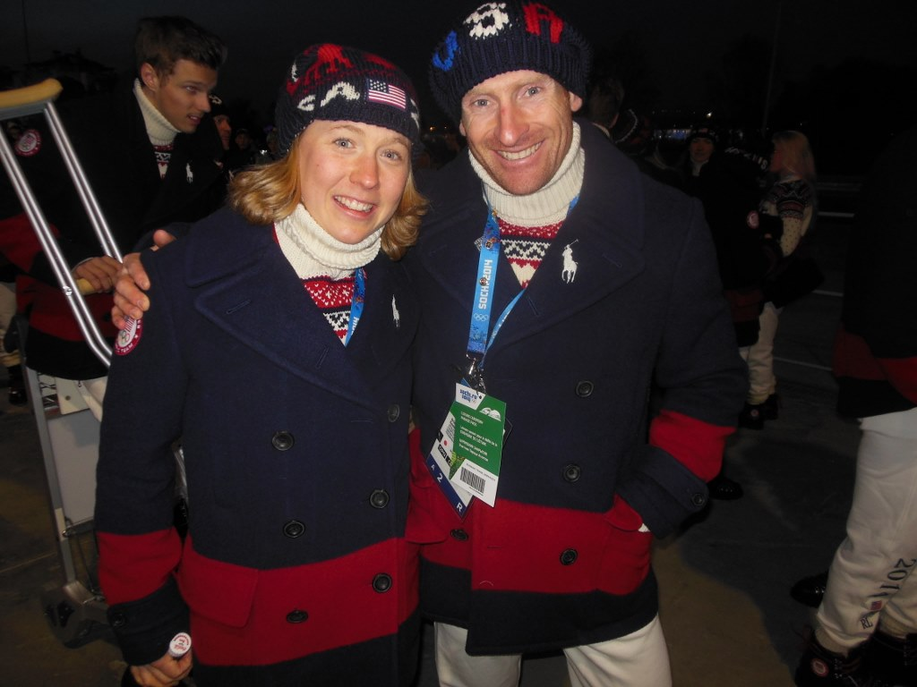 Ida Sargent and Brian Gregg  Heading to Olympic Closing Ceremonies