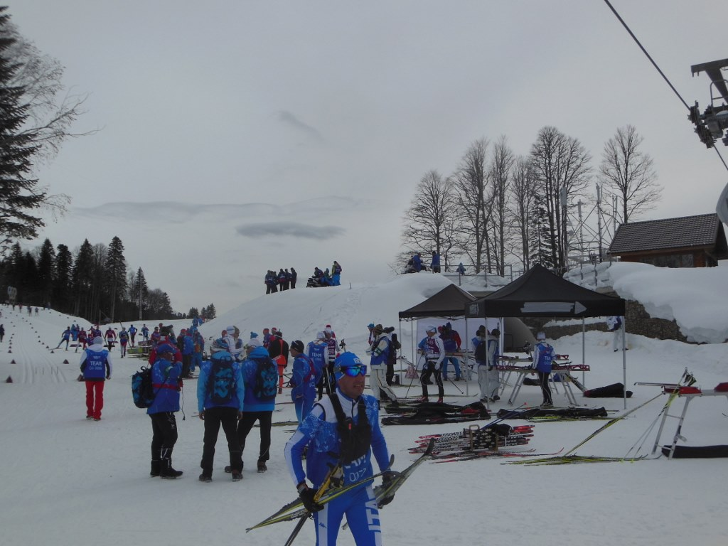 Busy Ski Depot Before Olympic Skiathlon