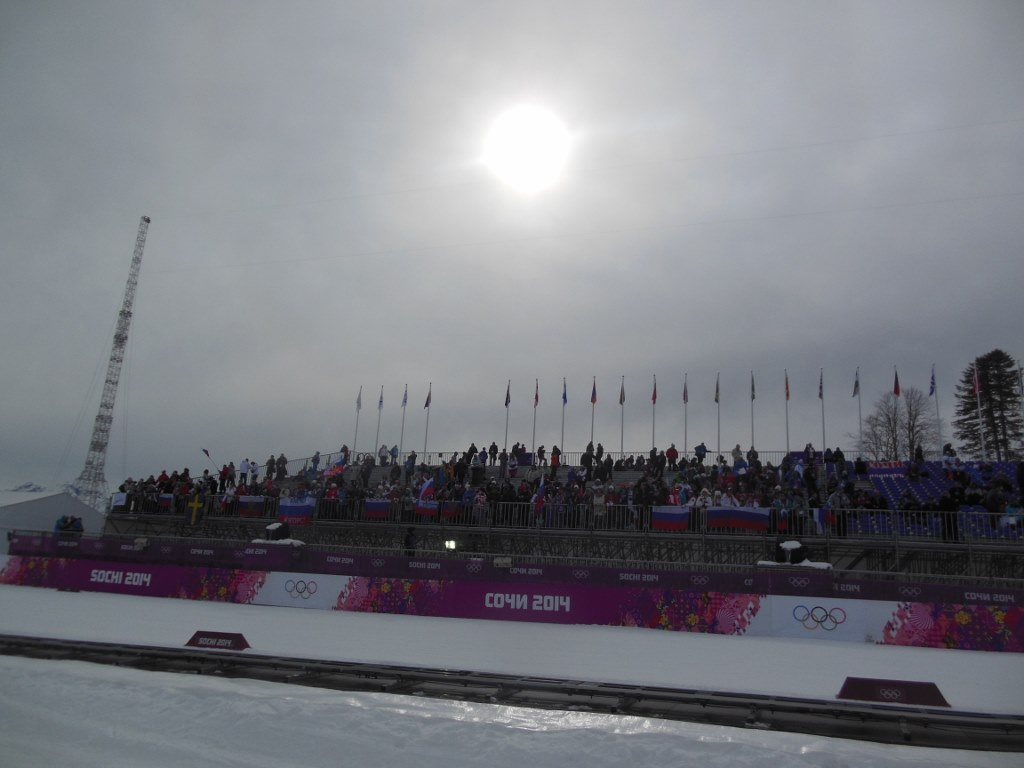 Half Full Stands at Sochi Olympic Cross Country