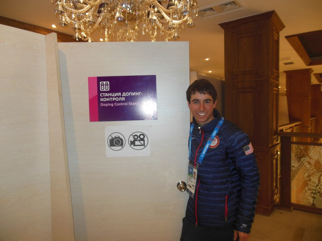 Noah Hoffman at Anti-Doping Olympic Village