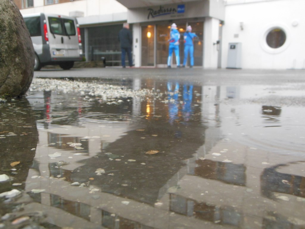 Puddle in March at Radisson Blu Fornibu Oslo
